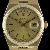 Rolex 18k Y/G Champagne Dial Oysterquartz Day-Date Vintage 19018