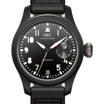 IWC IW502001 Big Pilot Top Gun in Black Ceramic - on Black...
