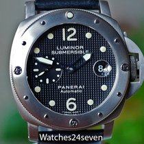 Panerai PAM 25A Luminor Submersible Automatic Titanium Hobnail...