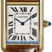 Cartier Yellow gold Quartz Silver Roman numerals 25.5mm new Tank Louis Cartier