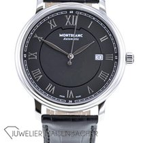Montblanc Tradition Steel 40mm Black Roman numerals