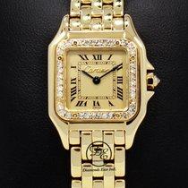 Cartier Panthere 18k Yellow Gold Factory Diamond Bezel Ladies...