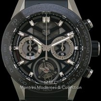 TAG Heuer Titane Chronographe Remontage automatique 45mm Carrera Heuer-02T