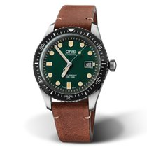 Oris Steel Automatic Green 42mm new Divers Sixty Five