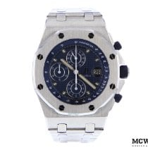 Audemars Piguet Royal Oak Offshore Chronograph Stål 42mm Blå Ingen tal