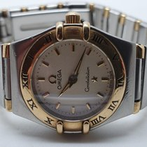 Omega Constellation Ladies Gold/Steel 23mm Champagne No numerals