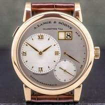 A. Lange & Söhne Rose gold Manual winding Roman numerals 38.5mm pre-owned Lange 1