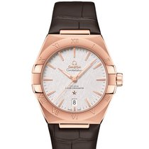 Omega Rose gold Automatic Silver 39mm new Constellation