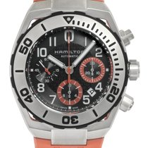 Hamilton Steel Automatic Grey Arabic numerals 42.5mm new Khaki Navy Sub