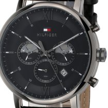Tommy Hilfiger Steel Quartz Black 44mm new