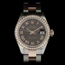 Rolex Lady-Datejust Gold/Steel 28mm Brown Roman numerals United Kingdom, London
