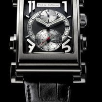 Pierre DeRoche new Automatic Display Back Small Seconds Guilloche Dial Luminescent Hands 46mm Steel Sapphire Glass