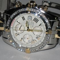 Breitling Chronomat Evolution 18K Gold / Steel Diamonds