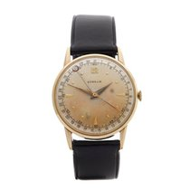 Gübelin Vintage Pointed Date 10k Yellow Gold Unisex - COM907