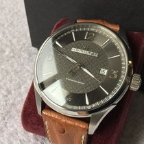 Hamilton Jazzmaster Viewmatic H32755851 Hamilton AUTO VIEWMATIC Nero Pelle Marrone 44mm new