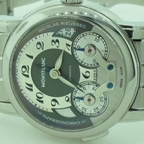 Montblanc Nicolas Rieussec Steel 43mm Silver Arabic numerals United States of America, New York, Greenvale