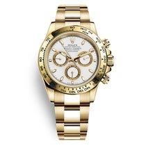 Rolex Daytona 18K Yellow Gold Watch White Dial