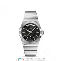 Omega Constellation Day-Date Steel 38mm Black No numerals