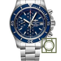 Breitling Superocean Chronograph 42 MM Blue Dial Full Steel...