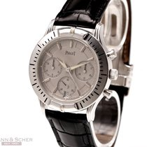 Piaget Chronograph 35mm Automatik 1998 gebraucht Silber