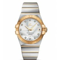 Omega Constellation Men Or/Acier 38mm Argent Romain