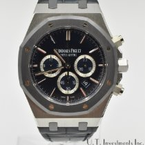 Audemars Piguet Platinum Automatic Blue No numerals 41mm pre-owned Royal Oak Chronograph
