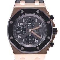오드마피게 핑크골드 자동 회색 41mm 중고시계 로열오크 오프쇼어 크로노그래프