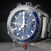 Omega Seamaster Planet Ocean Chronograph Τιτάνιο 45.5mm Μπλέ Xωρίς ψηφία