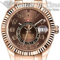 Rolex Rose gold Automatic Brown Arabic numerals 42mm pre-owned Sky-Dweller