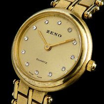 Zeno-Watch Basel Χρυσός / Ατσάλι 23mm Χαλαζίας ZENO-WATCH BASEL SWISS MADE STONE-DIAL LADY GOLD LUXUS DAMEN μεταχειρισμένο
