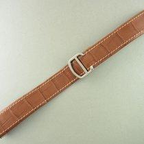 Cartier Krokoleder Armband Braun Faltschließe Stahl 22/18 Mm...