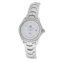 TAG Heuer Ladies  Link WJF1319 MOP Diamond Steel Quartz