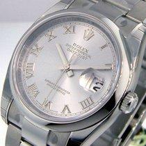 Rolex Datejust 116200 Steel Oyster Bracelet Rhodium Roman Dial