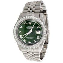 Rolex Mens Rolex 36mm DateJust Diamond Jubilee Watch Roman...