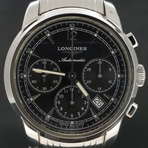 Longines Saint-Imier Chronograph Steel Black Dial, Box&Papers-...