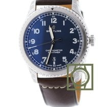 Breitling Navitimer 8 Automatic 41 mm Blue Dial Brown Calfskin...