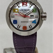 Locman Steel 36mm Quartz 042100MWNCO1PSR-B-WS new