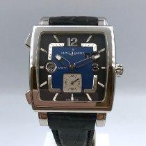 Ulysse Nardin Quadrato Dual Time Steel 42mm Blue Arabic numerals