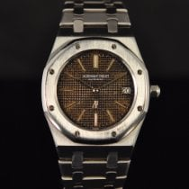 Audemars Piguet Royal Oak Jumbo Acier 39mm Brun Sans chiffres France, Paris