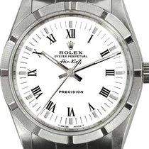 Rolex Air King Precision Steel 34mm White Roman numerals