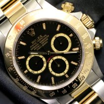 Rolex Daytona Gold/Stahl 40mm Schwarz Keine Ziffern Schweiz, Geneve