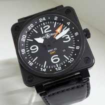 Bell & Ross BR 01-93 GMT Otel 46mm Negru