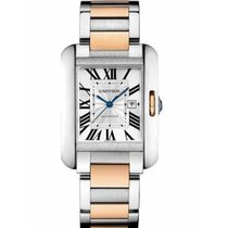 Cartier W5310007 Gold/Steel 2021 Tank Anglaise 39.2mm new