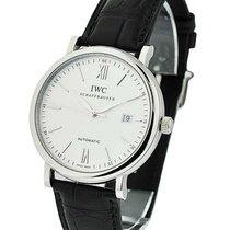 IWC IW356501 Portofino Automatic in Steel - on Black Leather...