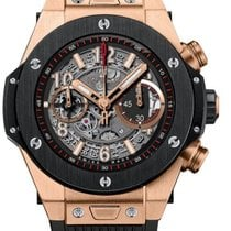 Hublot Big Bang 45 mm Unico 18k Rose Gold Ceramic Rubber Men`s...