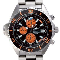 Chris Benz Steel 44mm Quartz CB-C-ORANGE-MB new