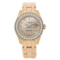 Rolex Lady-Datejust Pearlmaster Rose gold 29mm Mother of pearl Roman numerals United Kingdom, Liverpool