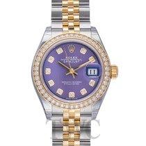 Rolex Lady-Datejust Oro amarillo 28mm Violeta