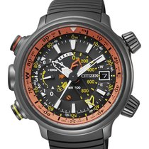 Citizen Titanium 49,5mm Quartz BN4026-09F CITIZEN PROMASTER Altichron Titanio nero/arancio new