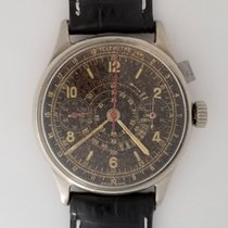 Heuer Rare Early  Chronograph Mono Pusher Valjoux 22 Pilot Watch